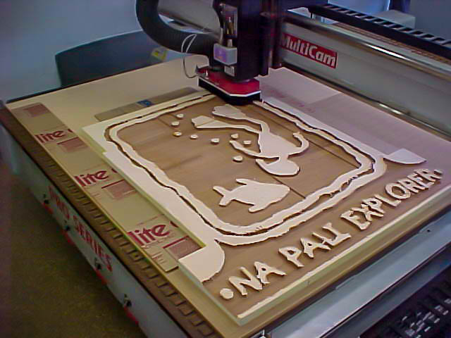 cnc artwork into signage