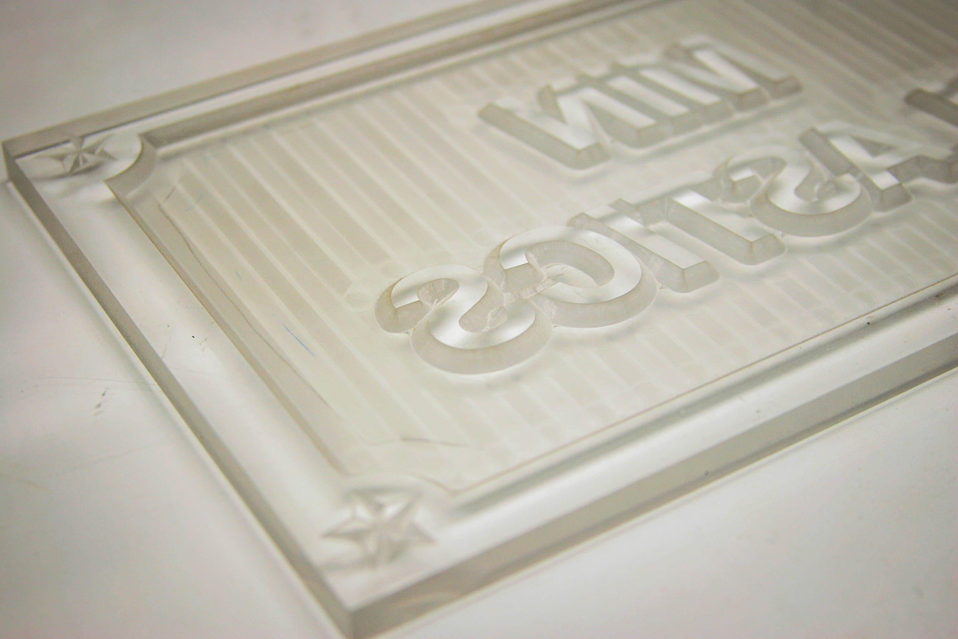 cnc engraving raised letters