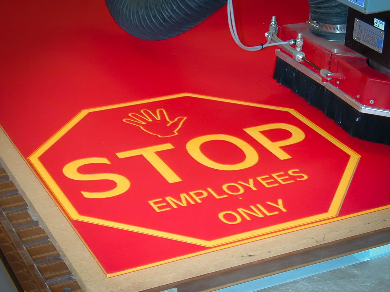 cnc stop sign